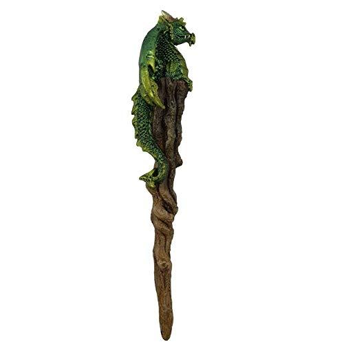 Weird Or Wonderful Nemesis Now Zauberstab, Motiv Argan von Nemesis Now - 24,2 cm Drache Zauberstab Geschenk Gothic Wiccan Wicca Wizard Hexe Witchraft Pagan Seer Magical Harry Potter Game of Thrones (Potter Stamm Harry)