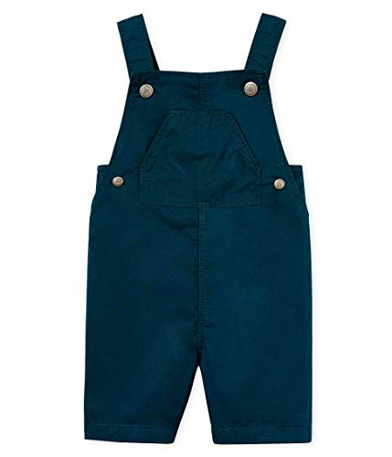 Petit Bateau Baby - Jungen Latzhose Salopette Courte_4712302, Grün (Pinede 02), 86 (Herstellergröße: 18M/81cm) - Baumwoll-twill Overall
