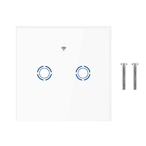 Drahtlose Netzwerkverbindung 3 (Smart Dimmer, WiFi Touchscreen Schalter für dimmbare LED, Kompatibel mit Alexa, Google, APP Fernbedienung AC 100-250V (EU)(2way))
