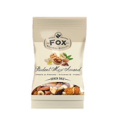 Sans sel Mélanger des fruits secs, des raisins secs, des amandes, des noisettes, de l'anacard, des graines de citrouille sans coques - 18 sacs x 20 gr - sans sodium