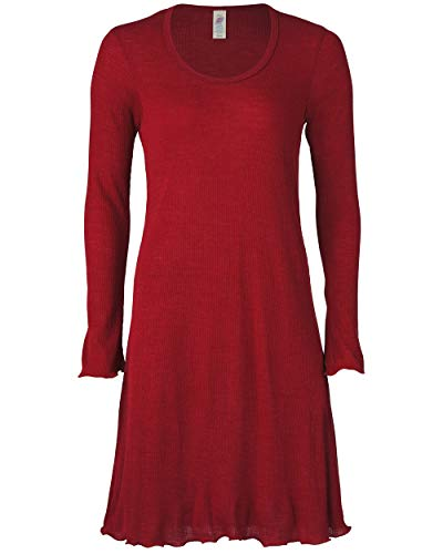 Engel Damen Nachthemd Langarm Bio-Wolle/Seide, Malve, 38/40