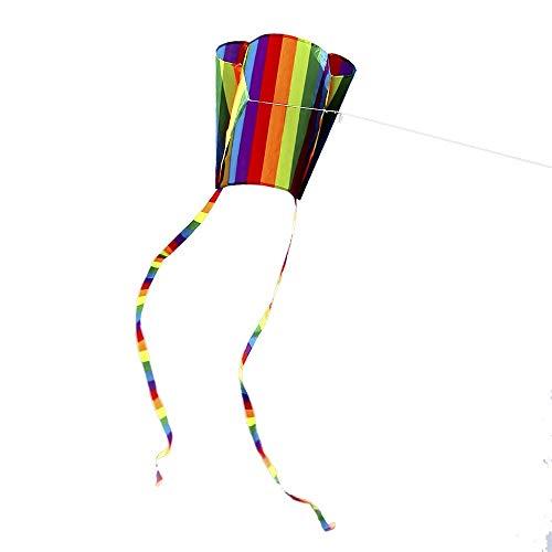 Zufriedenstellendes Produkt Bunter Parafoil-Kite mit 200cm Tails 30m Fliegenschnur Outdoor Soft Fly Kite Spielzeug für Kinder Geschenk Outdoor-Tool für die Ewigkeit gebaut - ideal für Familienspaß und -