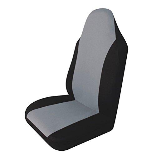 Coprisedili singoli,WINOMO Coprisedile anteriore per auto universale in grigio e nero