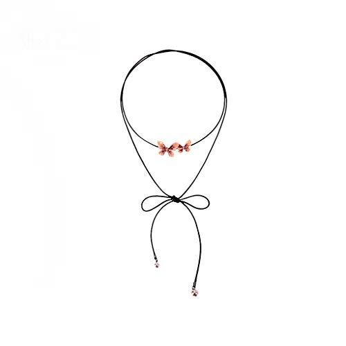 Nosterappou collana a collo doppio stile scollo a goccia a mano, gioiello versatile alla moda goccia a goccia con olio, comodo da indossare, festa, collana per banchetti, colletto lungo
