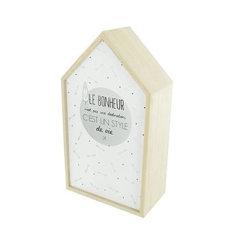 Armoire Murale Bois - Boîte à clés Deco Chic - Le