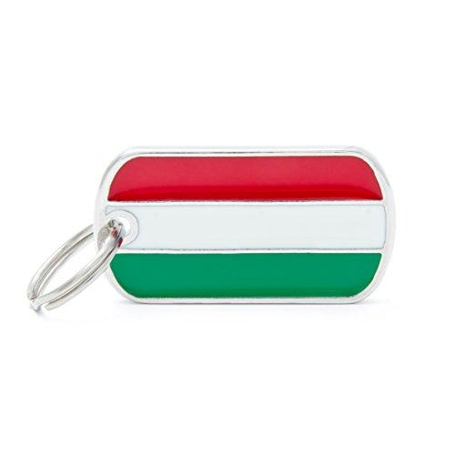 Médaille MyFamily Military Petite Flags Hongrie plaque chien gravure gratuite coutume chat