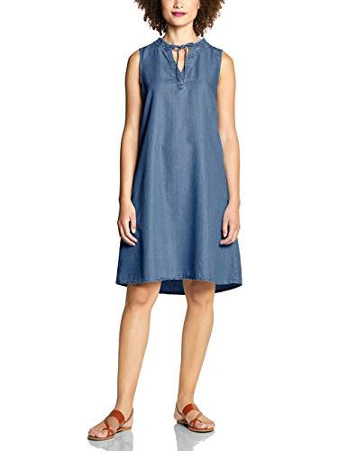 Street One Damen 142478 Kleid, mid Blue Tencel Washed, (Herstellergröße:40)