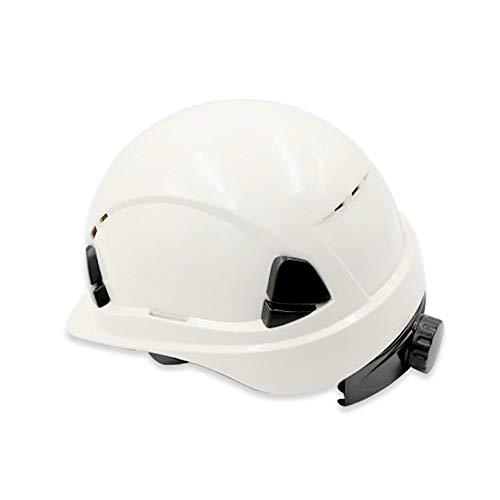 WYNZYSLBD Schutzhelm Weiß, Baustelle ABS Arbeitsversicherung Sommer Atmungsaktive Helm, Männer Und Frauen Sicherheit BAU (Bau Kostüm Männer)