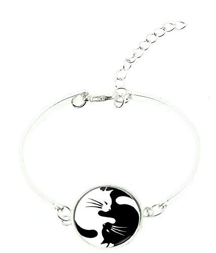 Lovelegis Damenarmband - Armband für Frauen - Damen Armband - Yin Yang - Tao - Bangle - Starr - Katzen - Weiß - - Perfekte Kätzchen Baby Kostüm