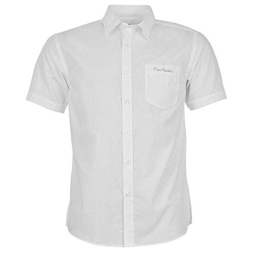 Pierre Cardin Herren Kurzarm Hemd Plain White