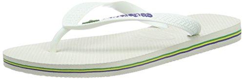 Havaianas Adult Brasil Logo Flip Flops 5 UK White