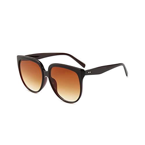 Sportbrillen, Angeln Golfbrille,Women Cat Eye Sunglasses Luxury Oversized Sun Glasses Retro Brand Design Big Frame Lady Eyewear UV400 Brown