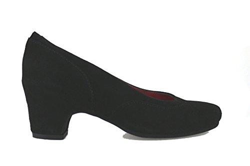 SUSIMODA decolte donna nero camoscio AJ693 (35 EU)
