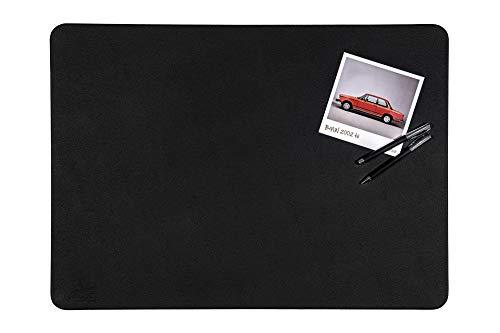 Centaur Schreibtischunterlagen 40x60 cm handgefertigt in Deutschland Schreibunterlage aus Leder Ecken abgerundet rutschfest schwarz weitere Farben & Größen