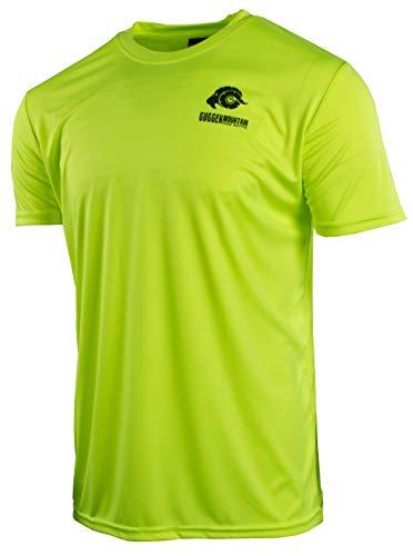 GUGGEN Mountain Herren Funktiosshirt Funktionswäsche Funktions T-Shirt Sport Outdoor Aktivitäten Schnelltrocknend Kurzarm Atmungsaktive Gelb L