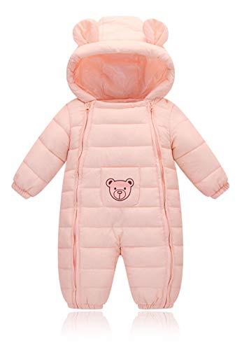 (Herbst-und Winter-Neugeborene Baumwollkleidung männliche und weibliche Kleinkinder kriechen, um Kinder-Baby-Baumwollkleidung Jumpsuit tragen,Pink,66cm)