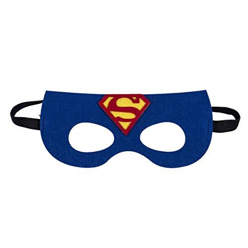 Greetuny Superheld Masken Super Masken Weihnachten Halloween Maske Superheld Cosplay Augenmasken Filzmasken-ideal für Kinder ab 3 Jahren (Superman)
