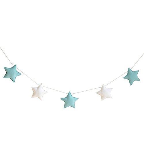 Homeofying Nordic - 5 adornos para colgar con diseño de estrellas, banderines...