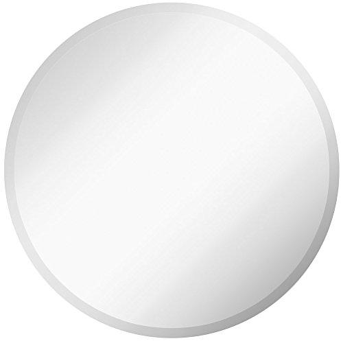 Hamilton Hills Redonda Grande Simple 1 Pulgada Biselado círculo Espejo de Pared sin Marco de 30 Pulgadas de diámetro Circular Espejo movido hacia atrás, o en el baño 30' Circle