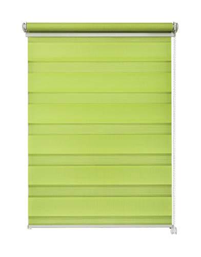 Doppelrollo Duorollo verschiedene Farben und Größen ohne Bohren Klemmrollo Seitenzugrollo Grün 110x150 cm