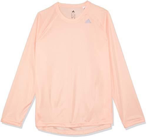 Adidas Long Sleeve Logo T-shirt (adidas Damen D2M Longsleeve Langarm T-Shirt, Clear Orange, M)