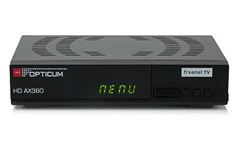 Opticum AX 360 Freenet TV Irdeto DVB-T2 HD H.265/HEVC Receiver schwarz