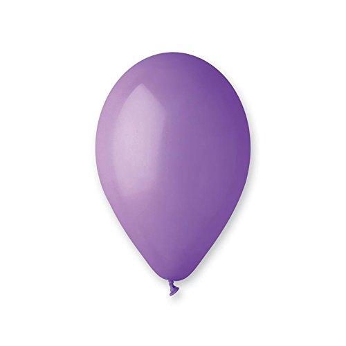 GEMAR Sachet de 100 Ballons, BA19500/LAVANDE, Pastel Lavande, Taille Unique