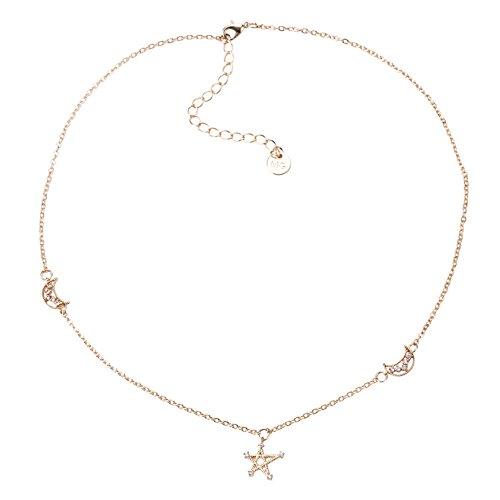 Haye necklace Damen Halskette Schmuck Kette Stern Schlüsselbeinhalskette Halskettenhalsketten Einfacher Schmuckhalsband Weiblich