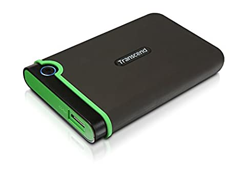 Transcend StoreJet M3 Anti-Shock 500GB externe Anti-Shock Festplatte (6,4cm (2,5 Zoll), 5400 rpm, 8MB Cache, USB 3.0)