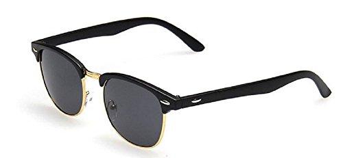 Embryform clš¢sico retro de las gafas de sol Medio marco montura de concha