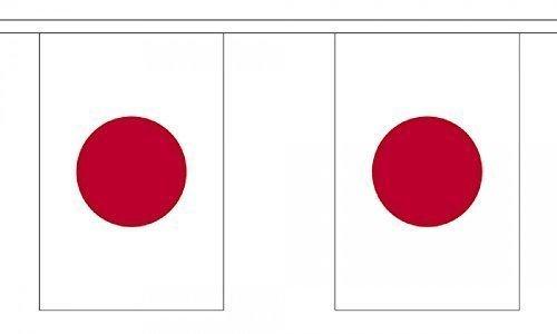 Drapeau Japon Guirlande 22 cm 6 m x 15 cm (9 \\