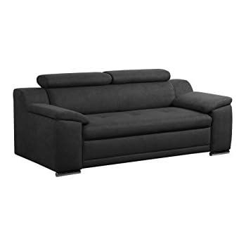 Ledersofa schwarz 3 sitzer  B-famous 3-Sitzer Sofa Cube 183 x 85 cm, PU, schwarz: Amazon.de ...