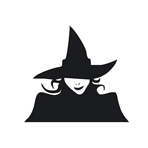 GGZZLL Auto Aufkleber Halloween Dekoration Hexe Form reflektierender Film 2 Stück, schwarz