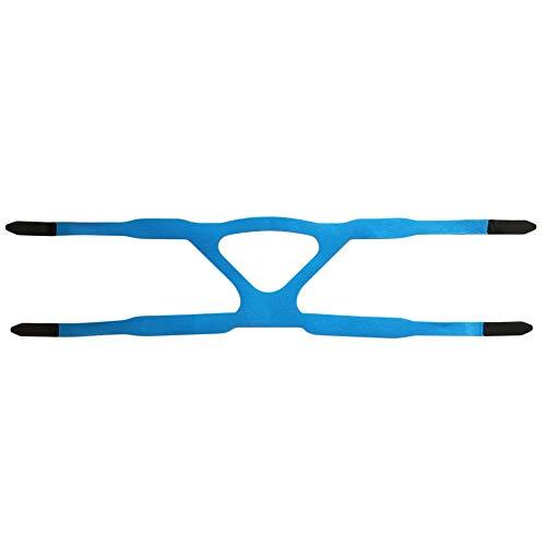 Universal Headgear Comfort Gel Vollmaske Sicherer Umweltschutzersatz CPAP-Kopfband Ohne Maske Geeignet für PHILPS - Blau und Grau -