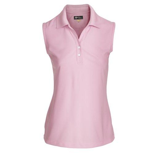 Poloshirt Damen oder Herren mit Farbauswahl - atmungsaktives kurzarm T-Shirt für Golf oder Freizeit - Polohemd im sportlichem Look (XS, Damen Rosa) (Golf Bekleidung)
