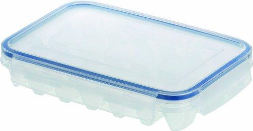 emsa eiswuerfelbehaelter Emsa 505320 Eiswürfelbox mit Deckel, 21 Stück Eiswürfel, Transparent/Blau, Clip & Close