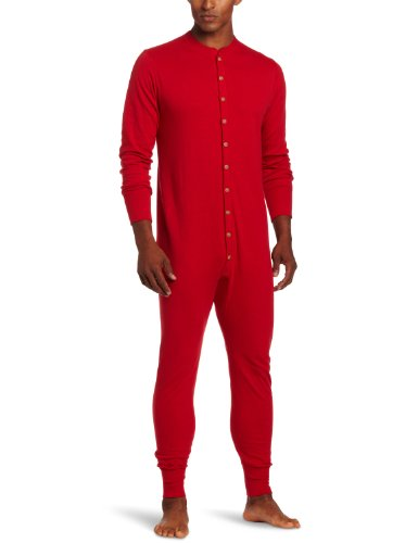 Duofold Men's Mid Weight Double Layer Thermal Union Suit, Red, XX-Large (Wolle Lange Unterwäsche Thermal)