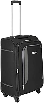 Amazon Brand - Solimo 68 cm Black Softsided Check-in Suitcase with Wheels