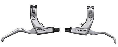 Shimano Deore MTB Bike V Brake Levers BL-T610 Pair in SILVER