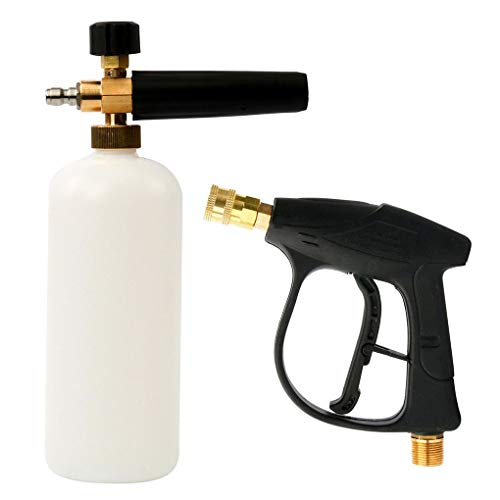 Busirde 1/4 Outlet Quick Disconnect Fitting Druck Schaum-Auto-Waschmaschine Quick Release Lance Soap Bottle Spray -