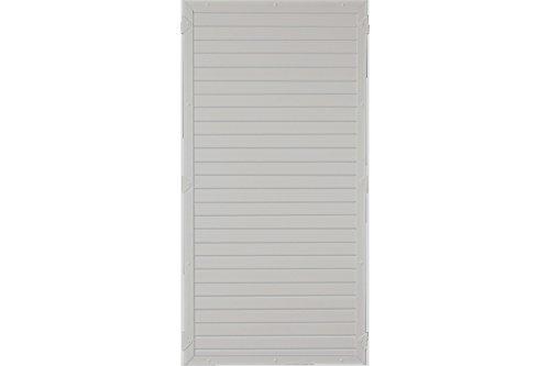 Sichtschutzzaun Kunststoff grau 90 x 180 cm (Serie Juist)