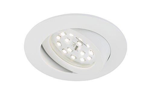 Briloner Leuchten LED Einbauleuchte, dimmbar, Einbaustrahler, LED Strahler, Spots, Deckenstrahler, Deckenspot, Lampen Wohnzimmer, LED Einbaustrahler 230v, Deckeneinbauleuchten, Einbaulampe, schwenkbar, rund