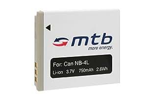 Batterie NB-4L pour Canon IXUS 30, 40, 50, 55, 60, 65, 70, 75, 80 IS, 100 IS...voir liste!