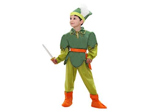 0132 - Costume da Peter Pan per Bambini Varie Taglie (4° 4-5 Ann)
