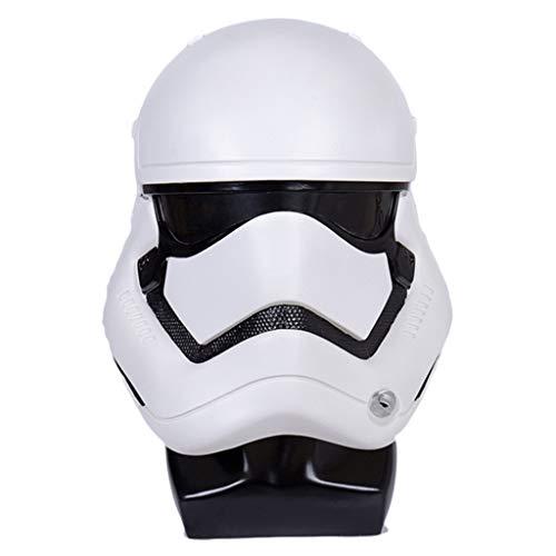 Yujingc Maske Star Wars Trooper Kostüm für Erwachsene Stormtrooper-Gesichtsmaske für Halloween anzeigen Maskerade-Thema-Partei Cosplay,White,29 * 30 * 28cm