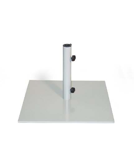 Oxford Garden 70-Pound Powder Coated Steel Market Umbrella Stand, Gray -