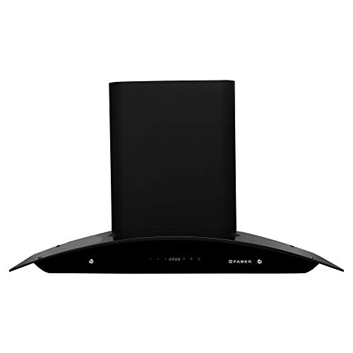 Faber 90 Cm 1500 M3/Hr Heat Auto Clean Chimney (Hood Primus Energy Tc Hc Bk 90, 2 Baffle Filters, Touch...