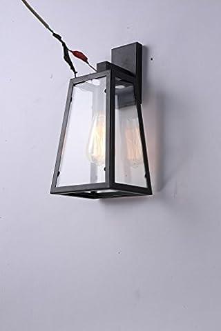 Magasin de vêtements créative rétro ronde en verre fer forgé mur lampe LED 170 * 140 * 350 (mm)