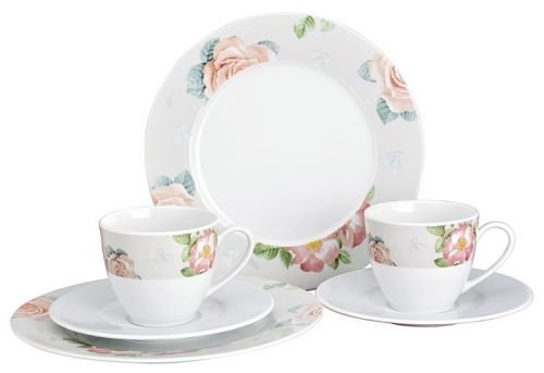 Mitterteich by Michael Fischer Geschirr-Serie Lady Rose Material Kaffeeservice Lady Rose 18 tlg