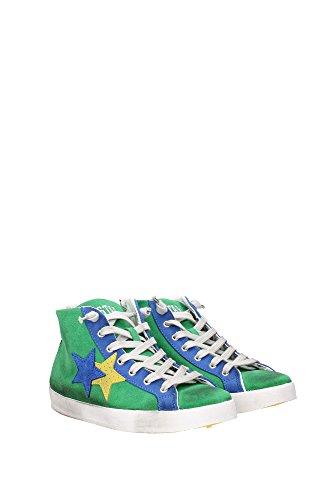 2SB626VERDEAZZURRO 2Star Sneakers Femme Chamois Vert Vert